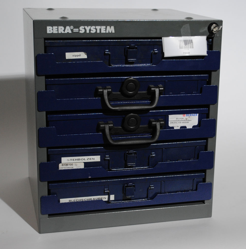 berner sortimentskoffer sortimentskasten schrauben bs3124 box tresor 9 ebay. Black Bedroom Furniture Sets. Home Design Ideas